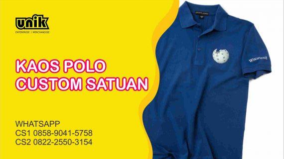 Bikin Kaos Polo Custom Satuan Murah