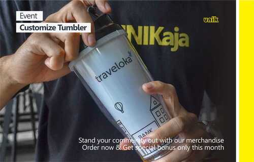 2.000pcs Tumbler Souvenir Traveloka